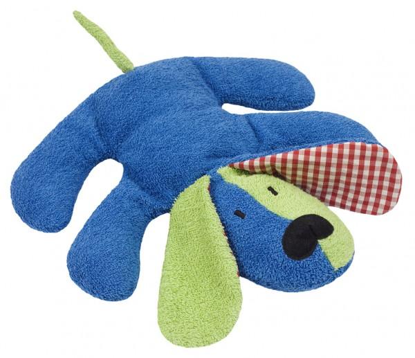 Efie Spiel & Kuscheltier Hund blau, kontrolliert biologischer Anbau (organic), Made in Germany