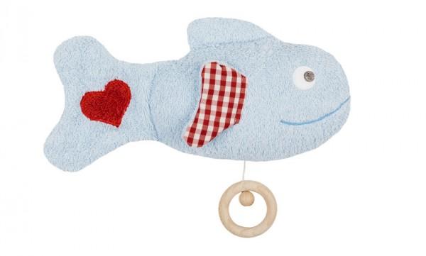 Efie Spieluhr Fisch, kontrolliert biologischer Anbau (organic), Made in Germany