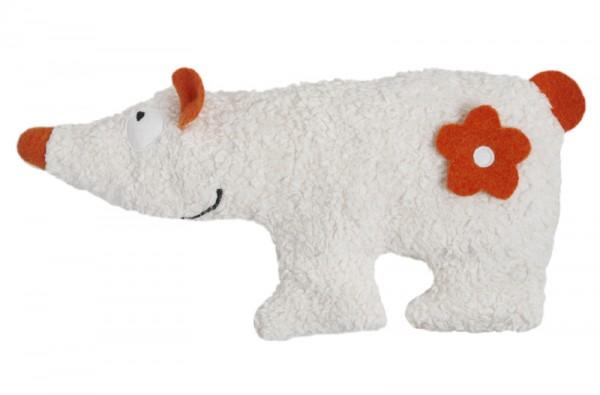 Efie Spiel & Kuschelkissen Eisbär, kontrolliert biologischer Anbau (organic), Made in Germany
