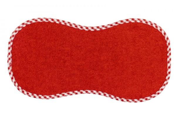 "Efie Spucktuch ""Spucki"" rot, kontrolliert biologischer Anbau (organic), Made in Germany"