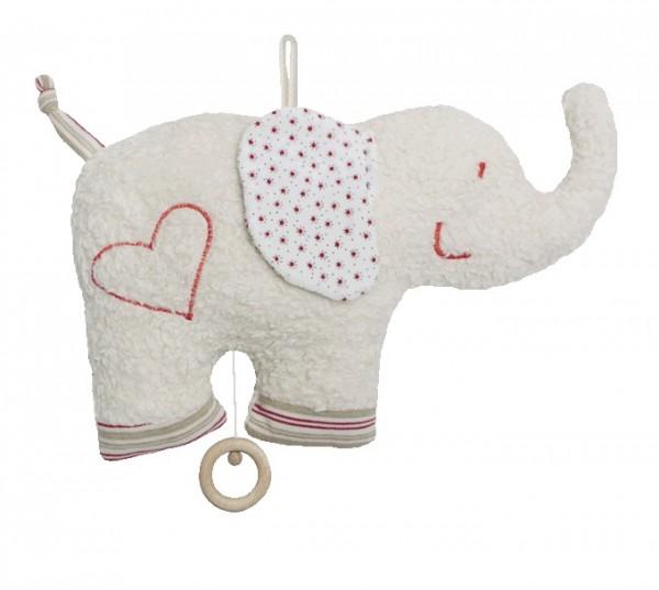 Efie Spieluhr Elefant, kontrolliert biologischer Anbau (organic), Made in Germany