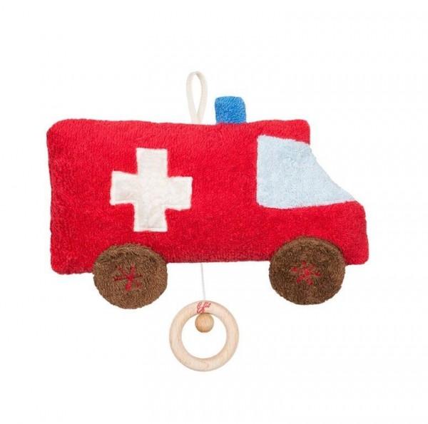Efie Spieluhr Auto/Ambulanz, kontrolliert biologischer Anbau (organic), Made in Germany