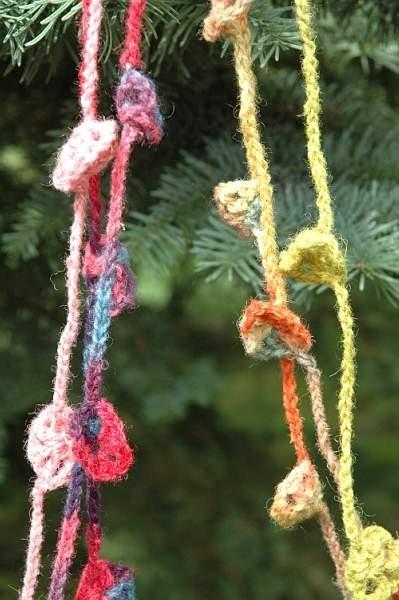 Bastelpackung Häkel Blumen Kette Farbe rosa/lila, aus kontrolliert biologischer Tierhaltung
