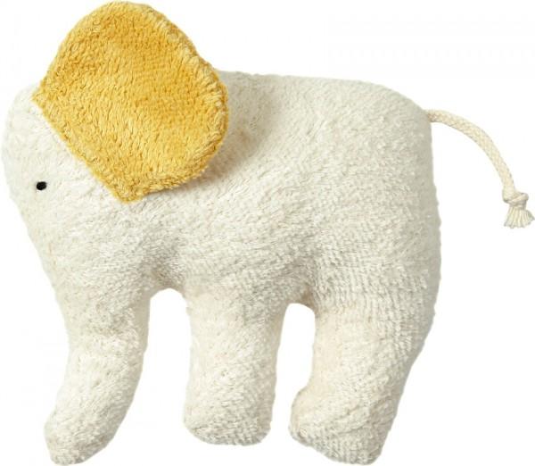 Efie Kuschel Elefant, gelbe Ohren, kontrolliert biologischer Anbau (organic), Made in Germany