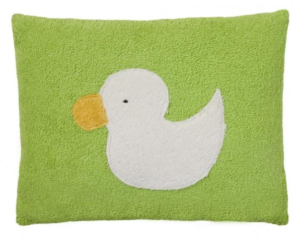 Efie Kissen grün, Ente, kontrolliert biologischer Anbau (organic), Made in Germany