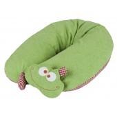Efie Patentiertes* Stillkissen Frosch mit abnehmbarem Rasselkopf, Inlett gefüllt mit EPS Mikroperle