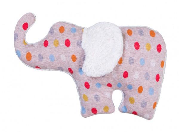 Efie Dinkel-Wärmekissen Elefant, Pünktchen, Made in Germany