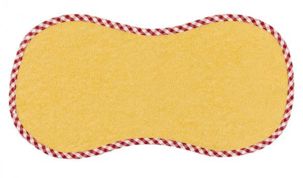 """Efie Spucktuch """"Spucki"""" gelb, kontrolliert biologischer Anbau (organic), Made in Germany"""
