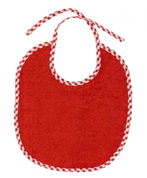 Efie Lätzchen groß rot, kontrolliert biologischer Anbau (organic), Made in Germany
