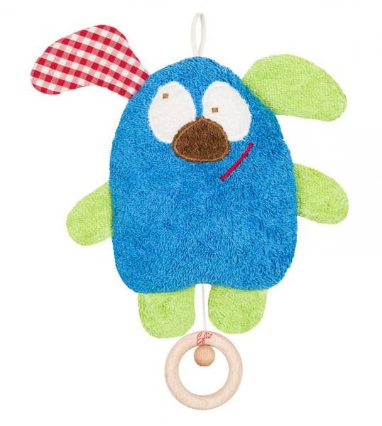 Efie Spieluhr blau, kontrolliert biologischer Anbau (organic), Made in Germany