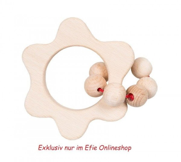 Efie Greifling Holzblümchen, unbehandeltes Buchenholz aus FSC Waldwirtschaft, Made in Germany