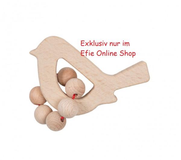 Efie Greifling Holz Vogel, unbehandeltes Buchenholz aus FSC Waldwirtschaft, Made in Germany