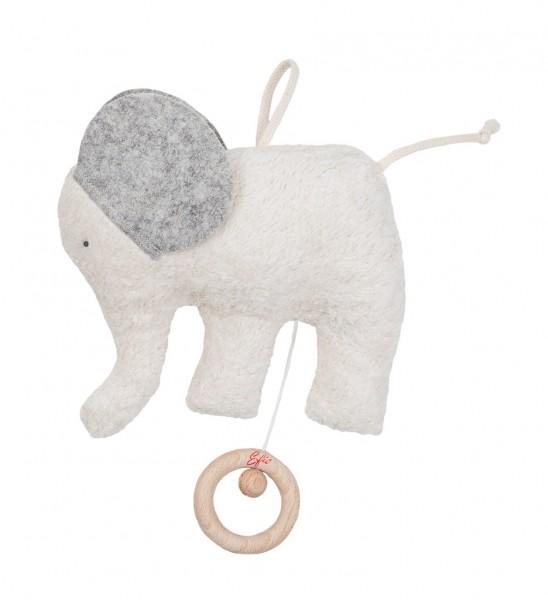 Efie Spieluhr Elefant Filz, kontrolliert biologischer Anbau (organic), Made in Germany