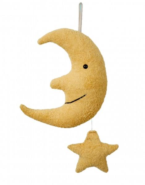 Efie Spieluhr Mond mit Stern, kontrolliert biologischer Anbau (organic), Made in Germany
