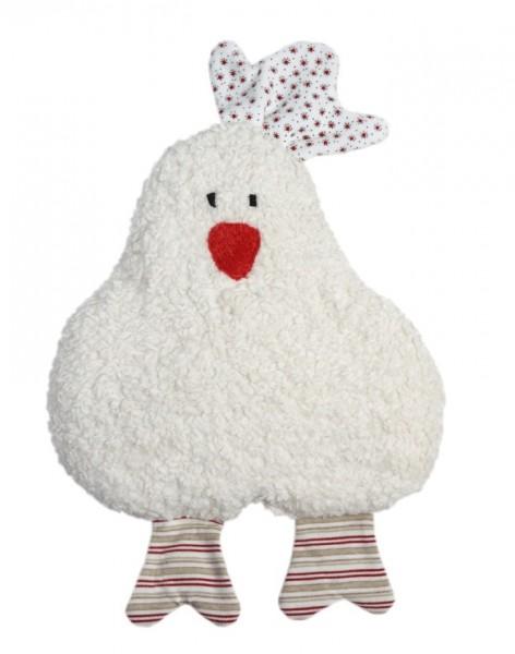 Efie Kirschkern-Wärmekissen Huhn rot, kontrolliert biologischer Anbau (organic), Made in Germany