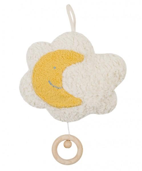 Efie Spieluhr Mond auf Wolke, kontrolliert biologischer Anbau (organic), Made in Germany