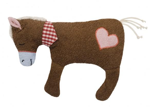 Efie Kirschkern-Wärmekissen Pferd braun, kontrolliert biologischer Anbau (organic), Made in Germany