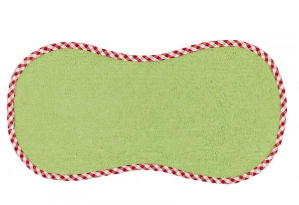 "Efie Spucktuch ""Spucki"" grün, kontrolliert biologischer Anbau (organic), Made in Germany"