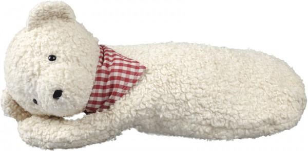 Efie Wärmflasche Teddy mit Halstuch, kontrolliert biologischer Anbau (organic), Made in Germany