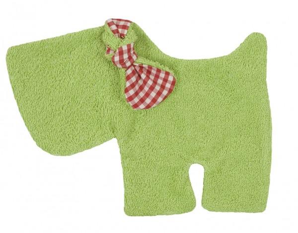 Efie Schmusetuch Hund grün, kontrolliert biologischer Anbau (organic), Made in Germany