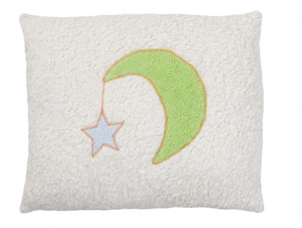 Efie Kissen Mond mit Stern groß, kontrolliert biologischer Anbau (organic), Made in Germany