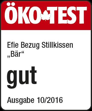 """Efie Bezug Stillkissen Teddy rot, Öko Test 10/2016 """"GUT"""", kontrolliert biologischer Anbau (organic),"""